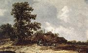 Jan van Goyen Farmyard with Haystack oil painting artist